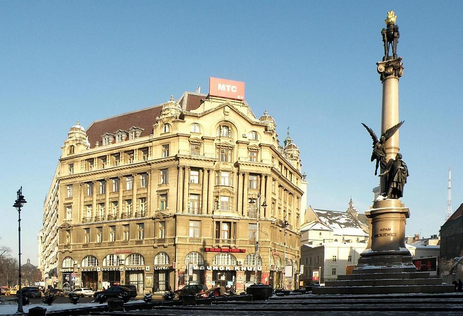 Wspomniany wyżej pomnik Adama Mickiewicza we Lwowie